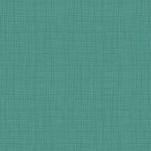 Effen quilt stof blauw-groen Linea