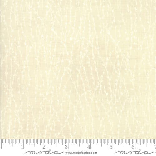 Creme wit strepen japans quiltstof Janet Clare origami
