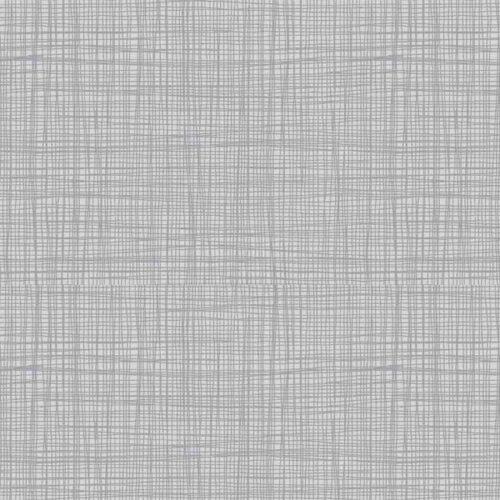 Linea texture 1525/S3 Heron Grey Makower. Effen grijze stof met geruit printje.Quiltstof, 100% katoen, 1.10m breed.