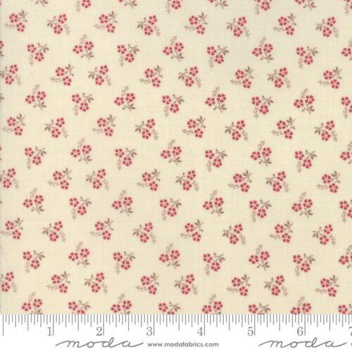 Pearl Rouge Jardin de Versailles,Moda. Klassieke French General stof: roze bloemetjes op zacht creme achtergrond.Quiltstof, 100% katoen, 1.10m breed.