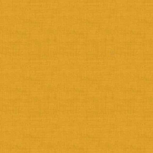 Gold 1473/Y7 Linen Texture Makower. Effen goud-gele stof in linnenlook.Quiltstof, 100% katoen, 1.10m breed of als fat quarter.