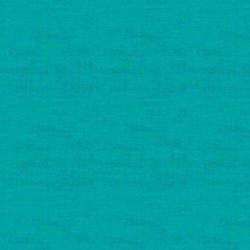 1473/T5 Turquoise Linen Texture Makower. Effen, turquoise blauwe stof met linnen texture.Quiltstof, 100% katoen, 1.10m breed of als fat quarter