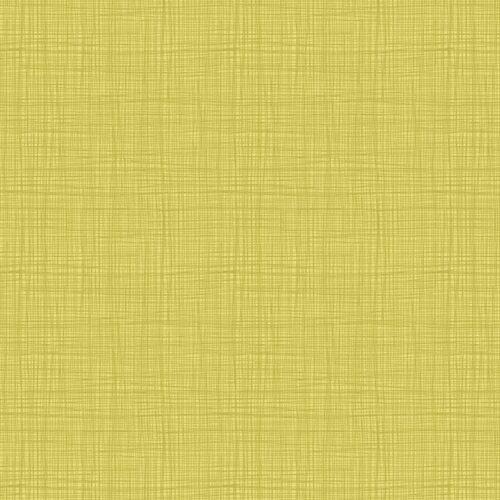 Linea Texture 1525/Y Yellow Makower. Effen gele stof met geruit printje.Quiltstof, 100% katoen, 1.10m breed.
