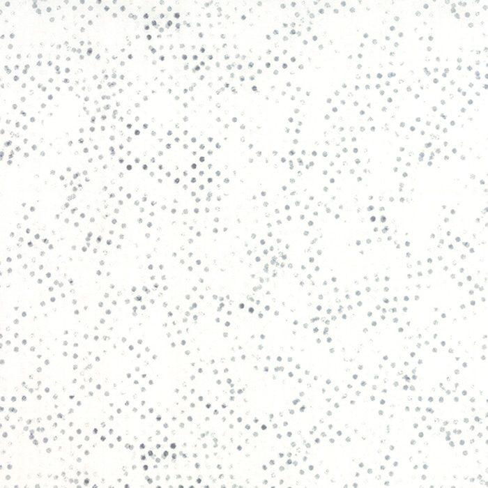 Paper Steel Off White 1586 12.Witte achtergrond stof met stippen uit de Moda-collectie Modern Background, ontworpen door Zen Chic. Quiltstof, 100% katoen, 1.10m breed.