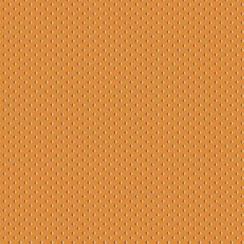 Trinkets 2/8145O Makower.Klassieke oranje stof met kleine motiefje er in.Quiltstof, 100% katoen, 1.10m breed of als fat quarter.