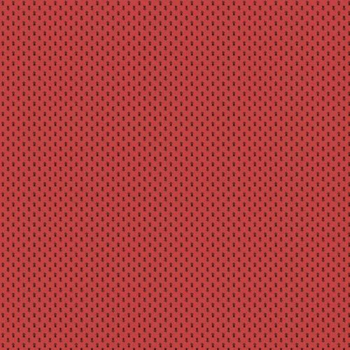 Trinkets 2/8154R Makower.Rode stof met een klein motief er in.Quiltstof, 100% katoen, 1.10m breed of als fat quarter