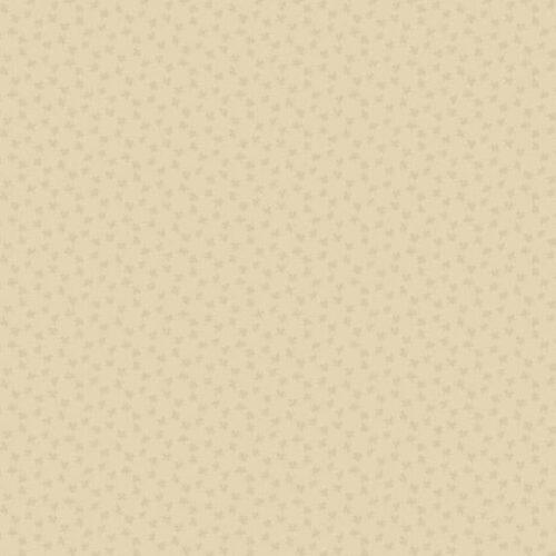 Bijna effen crèmekleurige quiltstof, 8700L Clover Parchment Bijoux. Makower, van de rol