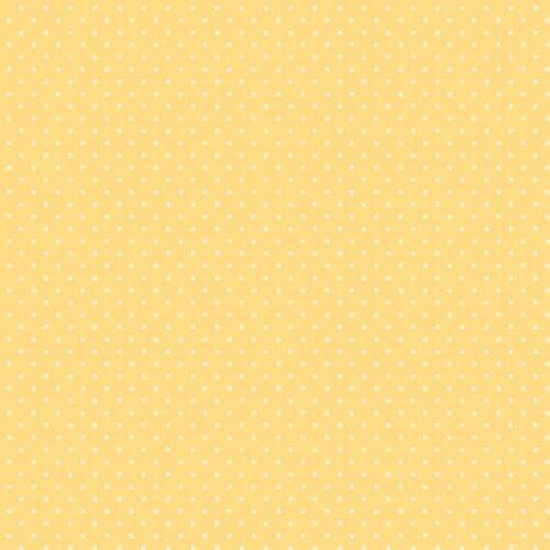 Bijna effen gele quiltstof, Bijoux 8702y square dot fresh apricot, van Makower.100% katoen, 1.10m breed.