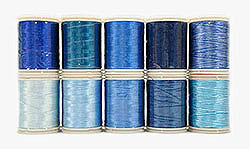 blauw garen quilten patchwork