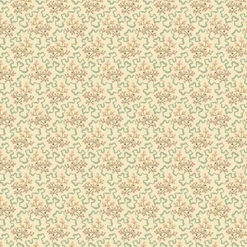 Elderberry Linen 2/8619L Crystal Farm. Een collectie van Edyta Sitar (Laundry Basket) voor Andover. Een romantisch stofje, met roze en bruine bloemetjes.Quiltstof, 100% katoen, 1.10m breed.