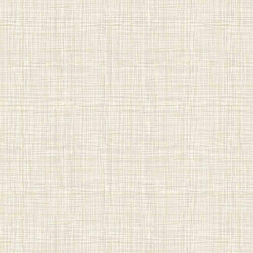 Effen, cremekleurige stof met linnen texture.Quiltstof, 100% katoen, 1.10m breed.