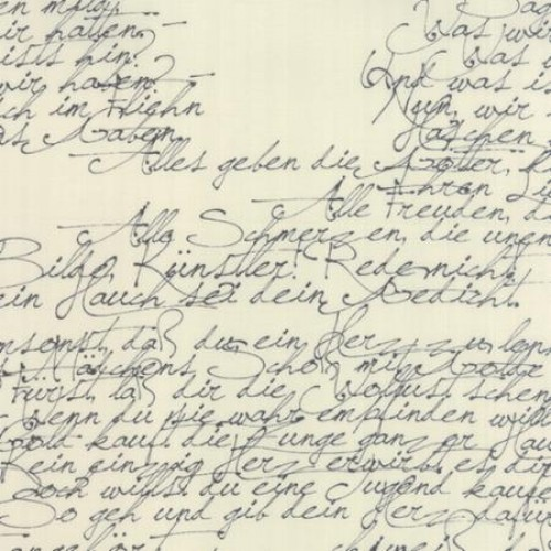Modern Background Paper Black on Eggshell Handwriting Yardage