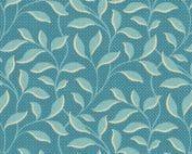 Royal Blue Morning Glory 2/9177B Edyta Sitar blauw-groen quilt stof