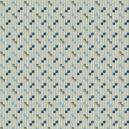Square Dance Royal Blue 2/9180B Edyta Sitar grijs stippen quiltstof