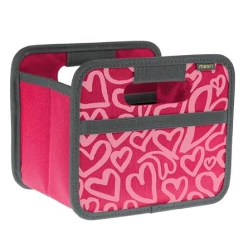 Meori vouwbare opbergbox, mini heart pink berry A100315