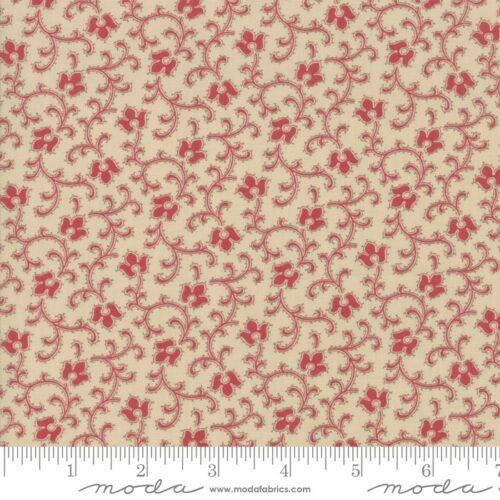 French General rood klassiek kleine bloemen