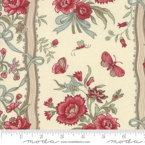 beau papillon reproductie klassieke quilt stof crème bloemen