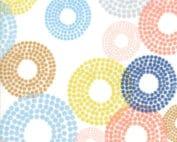 Zen Chic moderne quilt stof blauw wit stippen