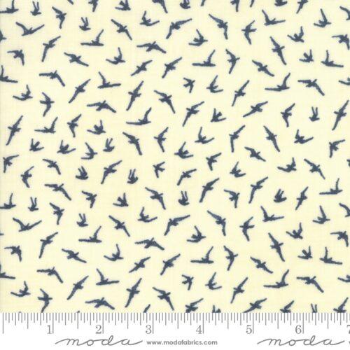 modern creme quiltstof vogels dieren