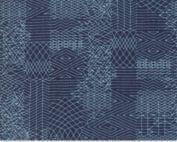 Biscuits Gravey moderne quilt stof blauwe grafisch