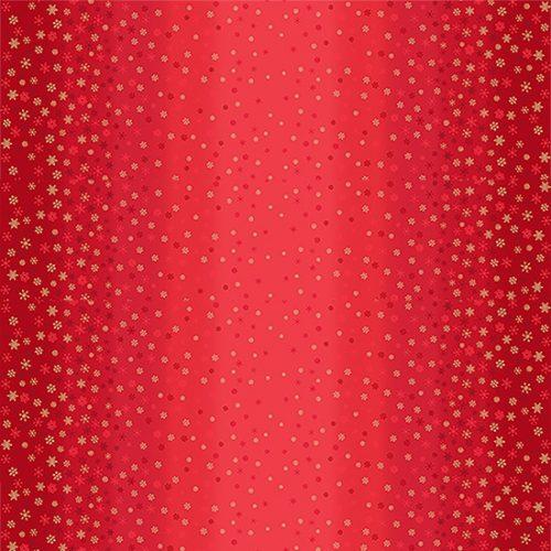 moderne rode quiltstof met sterren