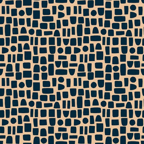 Moderne quilt stof met blokjes ruitjes motief roze zwart