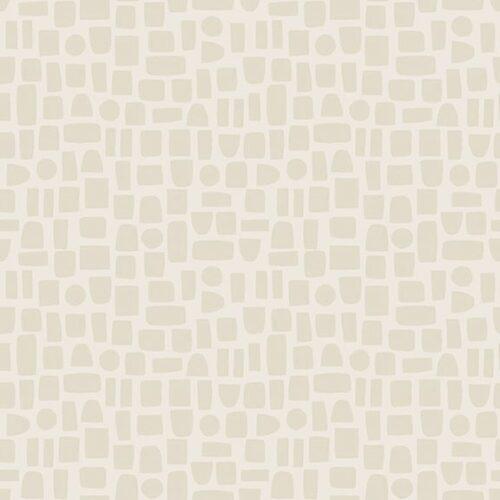 Moderne quilt stof met blokjes ruitjes motief witgrijs