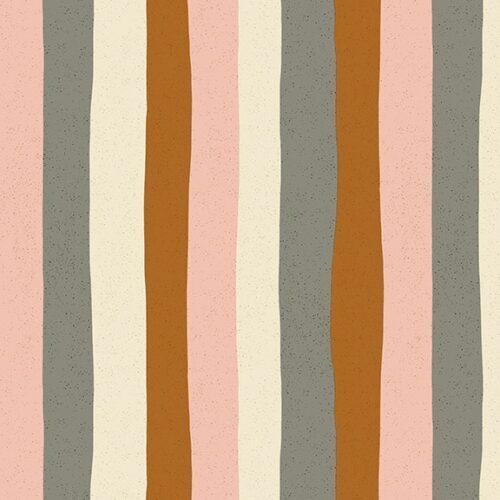 Moderne grafische quilt stof met strepen bruin roze grijs
