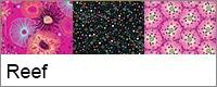 Moderne quilt stof Reef van Beth Studley Makower