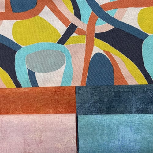 Endless Summer Papaya moderne quilt stof