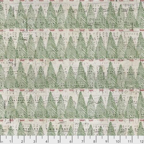 Moderne quilt stof feestdagen Kerst Grijs groen notenschrift