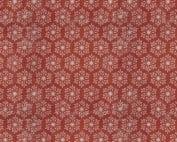 Moderne quilt stof feestdagen Kerst rood sneeuwvlok