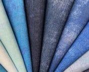pakket grunge moderne effen quilt stof blauw