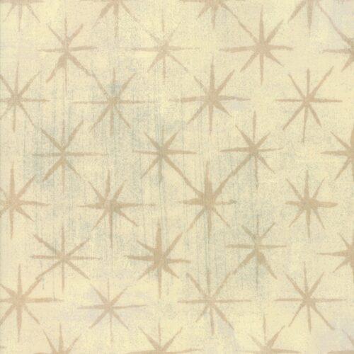 Effen creme quiltstof met sterren, Grunge Seeing Stars 30148-15