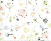 wit kleurrijk quilt stof modern flora zen chic