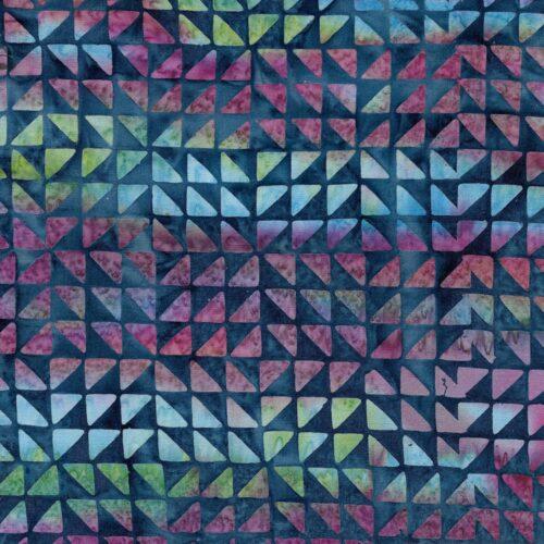 batik quilt stof ruitje blauw