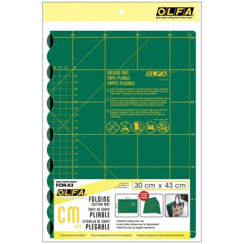 Opvouwbare snijmat Olfa FCM-A3. Afmeting 30 x 43 cm, 2,5 mm dik.